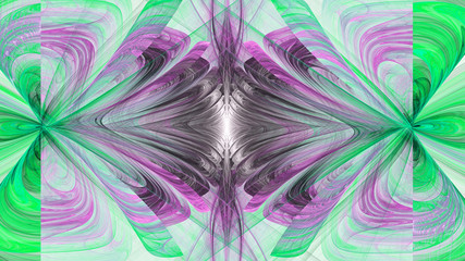 World through looking glass. Kaleidoscope time. 3D surreal illustration. Sacred geometry. Mysterious psychedelic relaxation pattern. Fractal abstract texture. Digital artwork graphic astrology magic