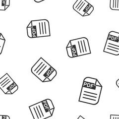 PDF download seamless pattern background. Business flat vector illustration. PDF format board sign symbol pattern.