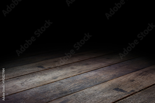 dark wood floor perspective. Dark Plank Wood Floor Texture Perspective Background For Display Or Montage Of Product,Mock Up R