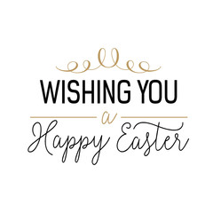 Wishing you happy Easter lettering
