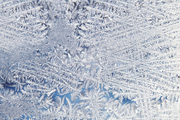 iny winter snowflakes frozen glass