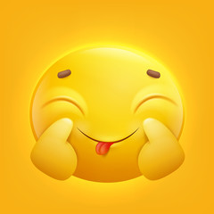 Positive Yellow smiley emoji emoticon icon