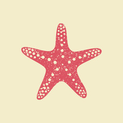 Starfish in flat style.