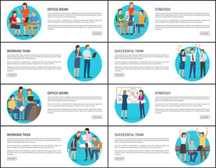 Eight Office Work Strategy Working Team Cards
