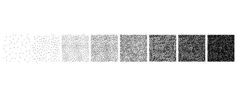 Set of stipple pattern
