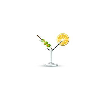 Glass Martini - Olives - Lemon 01 - 11Gy11Wbg