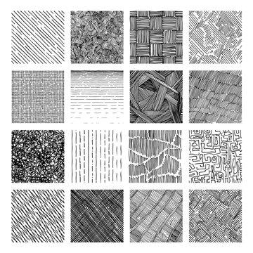 Seamless pattern of rough hatching grunge texture