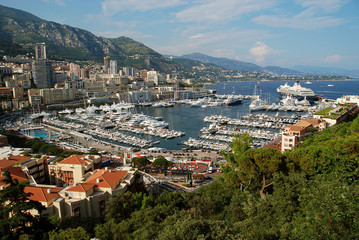 Panoramic view of La Condamine and Monte Carlo