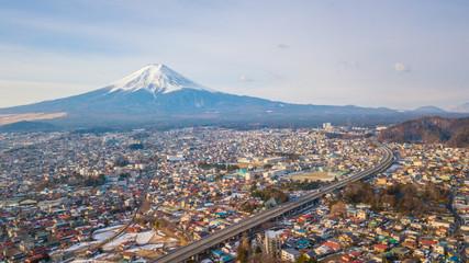 Aerial view of Fuji Mountain,Japan