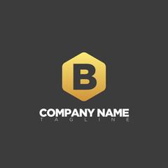 B letter logo template modern