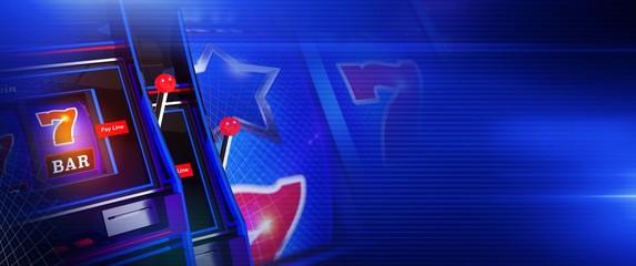 Blue Slot Casino Games Banner