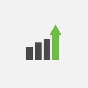 bar rise business chart icon for icon and profit rise