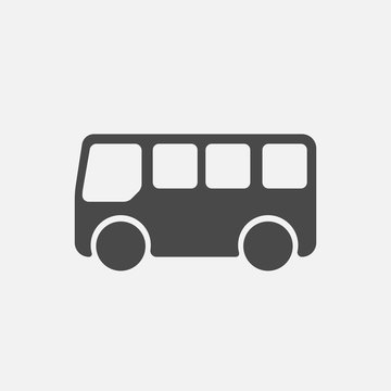 bus icon for transportation mini