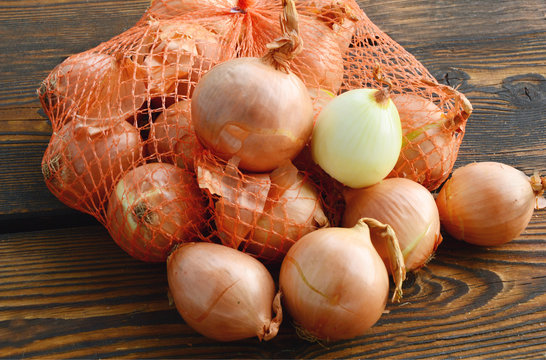 The brown onion or yellow onion is a variety of dry onion with a strong flavour