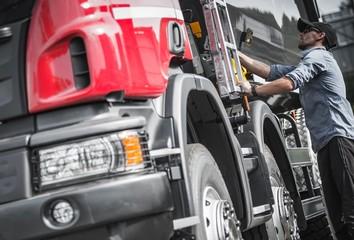 Truck Driver Final Load Check Wall mural