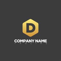 D letter logo template modern