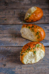 Buns with herbs and garlic - fresh pastries