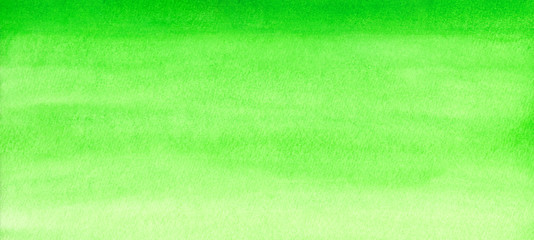 Web banner green watercolor gradient background abstract painted template with paper texture.