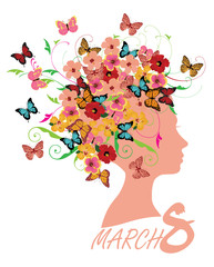 8 March Floral Card