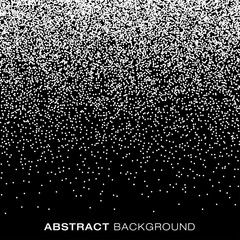 Abstract Gradient Halftone Snow Flake Dots Background. Vector illustration.