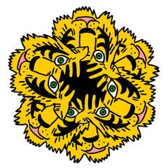 abstract tiger face illustration