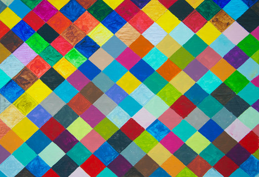 Colorful diamond pattern