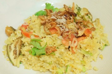 Thai Green Curry Fried Rice with Fish