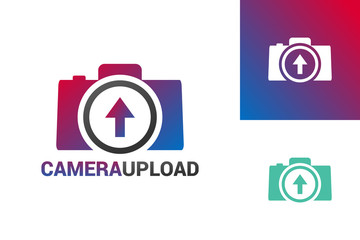 Camera Upload Logo Template Design Vector, Emblem, Design Concept, Creative Symbol, Icon