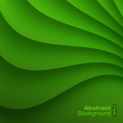 Green Wavy background. Vector illustration.
