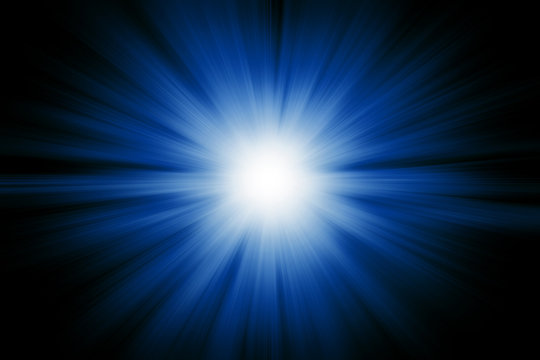 Blue light burst explosion for background
