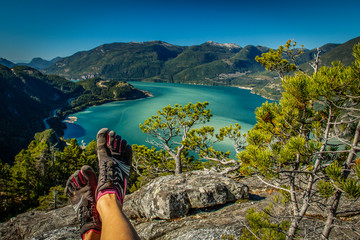Hiking Mt. Chief in five finger shoes, Squamish, Canada