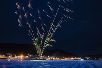Lake George NY Winter Carnival Foreworks