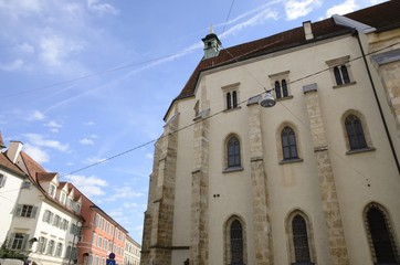 Fotobehang Monument Lateral view of Graz cathedral, Austria