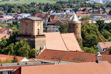 Nikolaikirche und Blindower Torturm