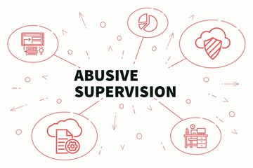 Business illustration showing the concept of abusive supervision