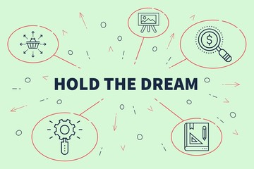 Business illustration showing the concept of hold the dream