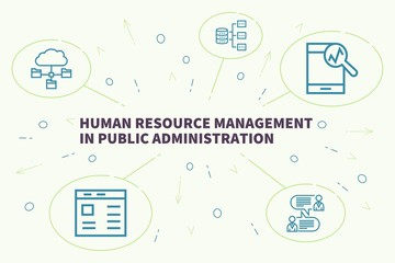 Business illustration showing the concept of human resource management in public administration