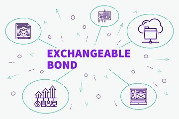 Business illustration showing the concept of exchangeable bond