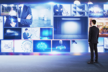 Multimedia and presentation concept