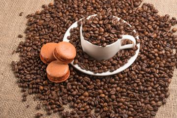macaroons coffee