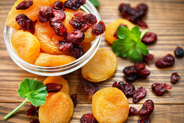 dried apricots and cranberries