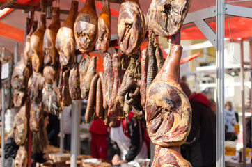 sale of dried meat