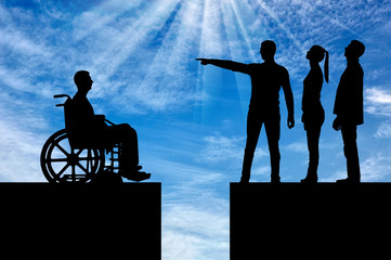 Concept of Discrimination of people with disabilities in society
