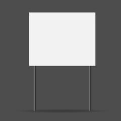 white sign. vector illustration
