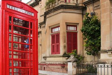 Rabat, Malta, Traditional Red Telephone Box