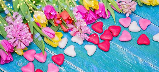 Liebe Herzen süßes Blumen