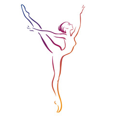 Ballerinas silhouettes. vector illustration