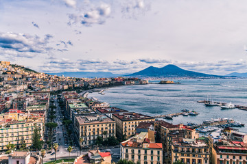Fotobehang Napels The Beauty of Naples in a calm Winter day, February 2018