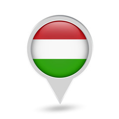 Hungary Flag Round Pin Icon