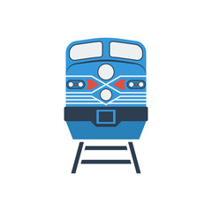 train icon, stock vector illustration, flat design style